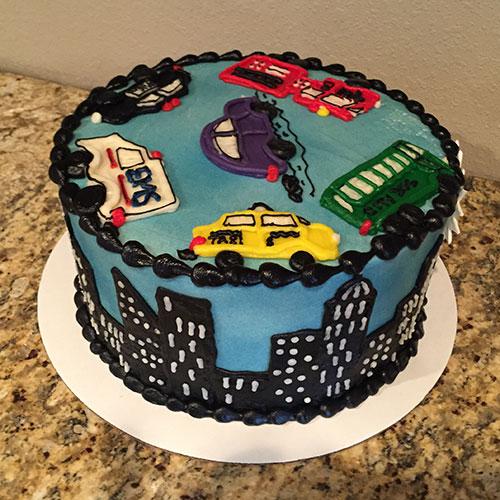 Cityscape cake left side