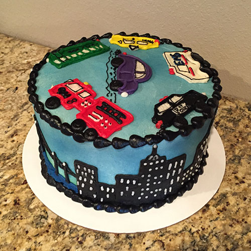 Cityscape cake right side
