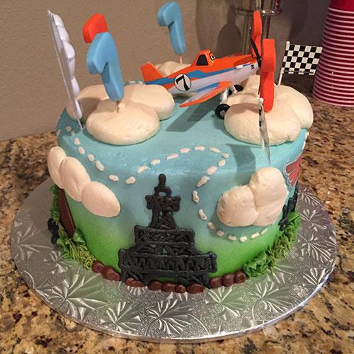 Disney Planes cake left side