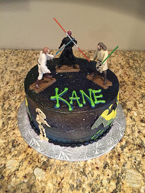 Star Wars cake front