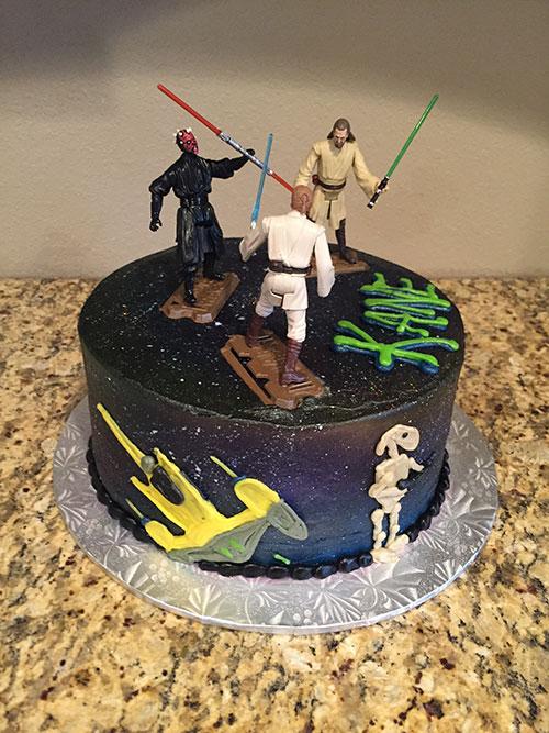 Star Wars cake left side