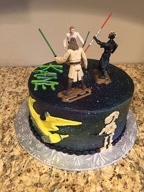 Star Wars cake right side
