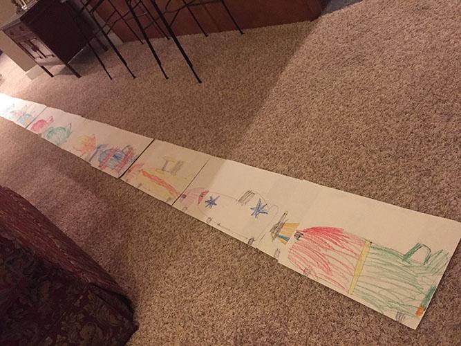 drawing of Disney planes
